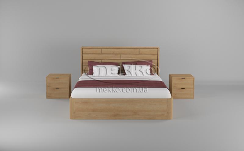 Ліжко Лауро з Підйомником (масив бука /масив дуба) T.Q.Project  Боярка-4